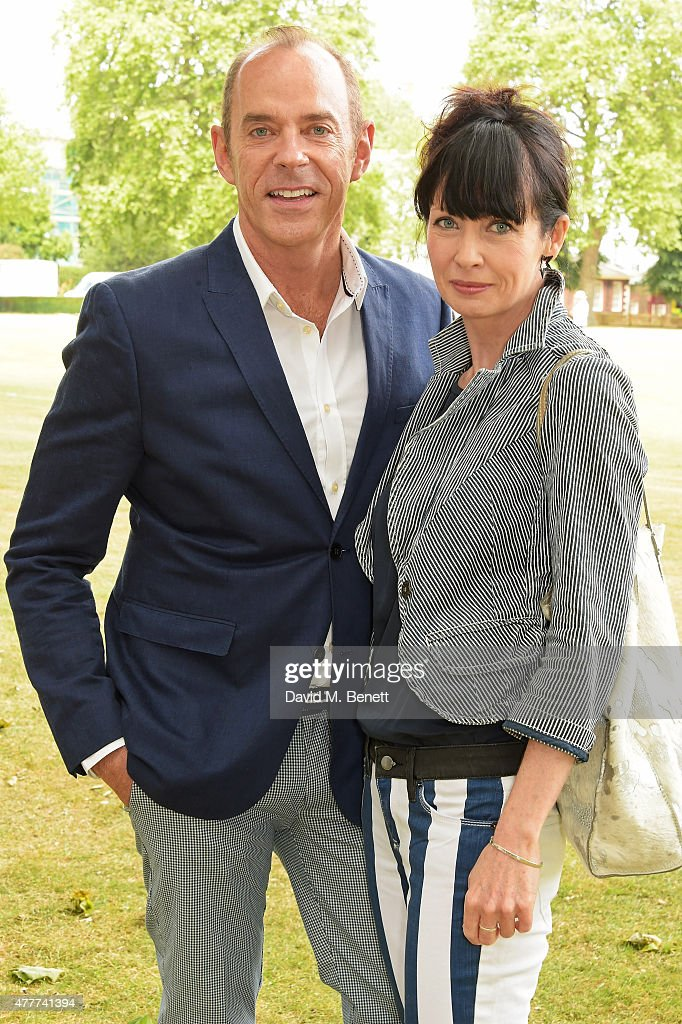 Lysette Anthony (R) and a guest attend the Flannels for Heroes charity cricket match and garden party hosted by menswear brand Dockers at Burtons Court on June 19, 2015 in London, England.