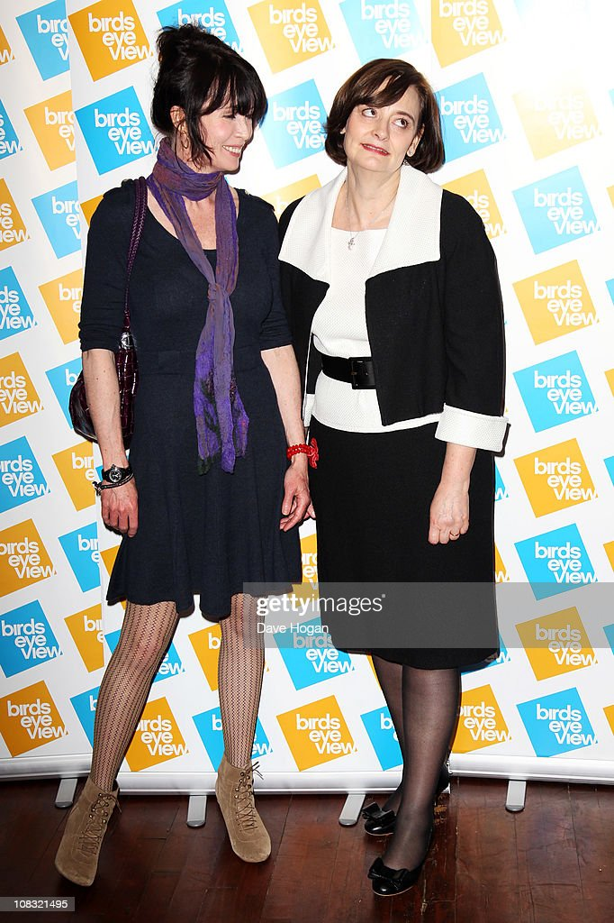 L-R Lysette Anthony and Cherie Blair attend the launch of the 7th annual Birds Eye View Film Festival 2011 held at The Century Club on January 25, 2011 in London, England.