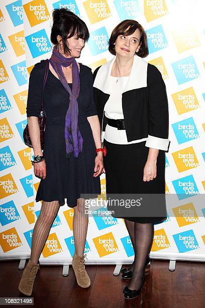 Lysette Anthony and Cherie Blair attend the launch of the 7th annual Birds Eye View Film Festival 2011 held at The Century Club on January 25 2011 in...