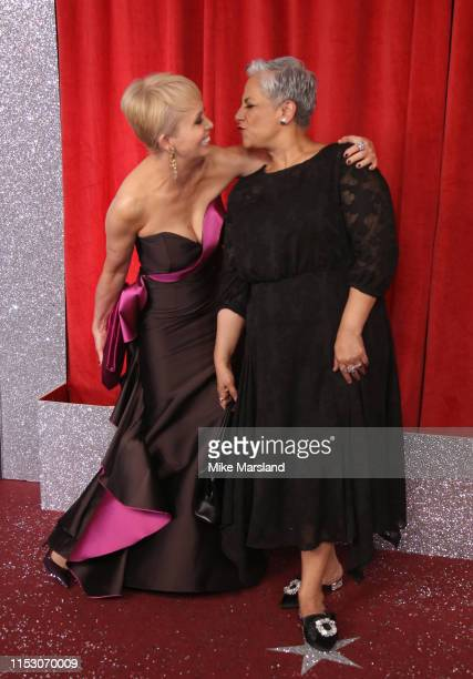 Lysette Anthony and Harvey Virdi attend the British Soap Awards at The Lowry Theatre on June 01, 2019 in Manchester, England.