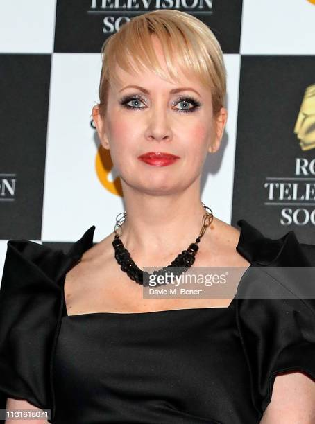 Lysette Anthony attends The Royal Television Society Programme Awards at The Grosvenor House Hotel on March 19, 2019 in London, England.