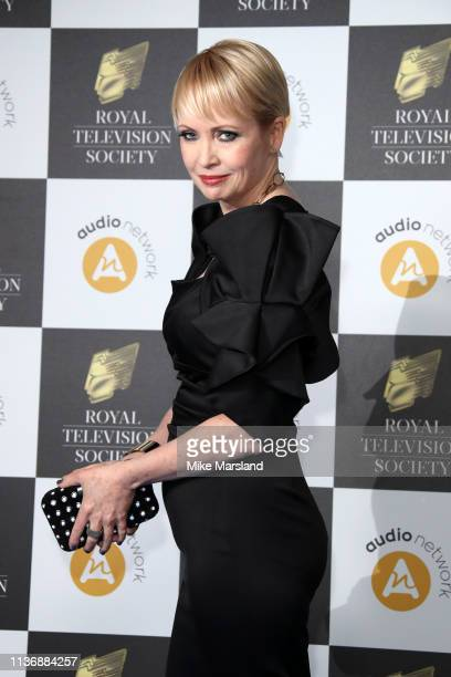 Lysette Anthony attends the Royal Television Society Programme Awards at Grosvenor House on March 19, 2019 in London, England.