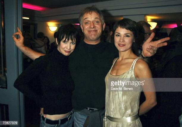 Lysette Anthony Rik Mayall and Helen Baker attend the after party following the opening night of 'The New Statesman' at Trafalgar Studios 1 on...