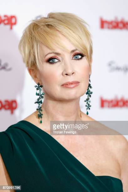 Lysette Anthony winner of the award for Best Partnership attends the Inside Soap Awards held at The Hippodrome on November 6 2017 in London England