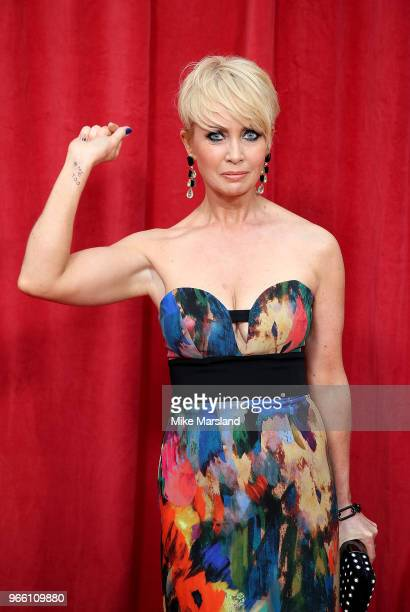 Lysette Anthony with #MeToo written on her arm at for the British Soap Awards 2018 at Hackney Empire on June 2 2018 in London England