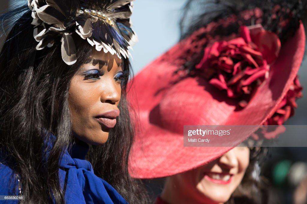 Racegoers Attend Day Two Of The Cheltenham Festival : News Photo