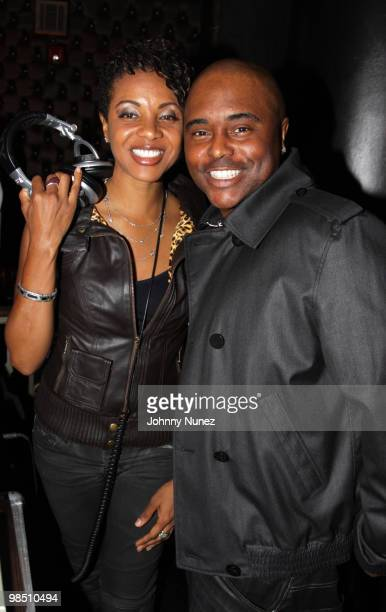 MC Lyte and comedian Alex Thomas attend the Jordan Brand Classic awards dinner at The Edison Ballroom on April 16 2010 in New York City