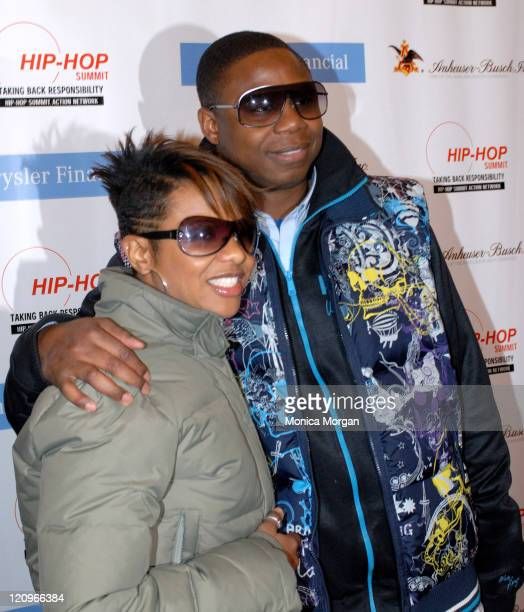 MC Lyte and Doug E Fresh during Chrysler Financial Presents Hip Hop Summit Action Network in Detroit April 14 2007 at Max M Fisher Music Center in...