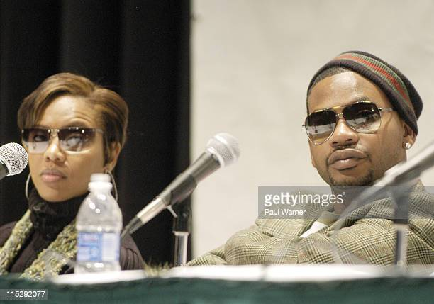 MC Lyte and Obie Trice during 2006 Hip Hop Summit Sponsored By Chrysler Financial at Wayne State University's Bonstelle Theatre in Detroit Michigan...