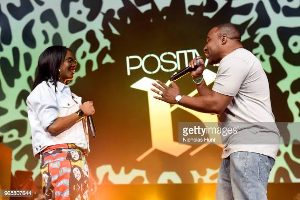 Lyte and Positive K peform during the YO MTV Raps 30th Anniversary Live Event at Barclays Center on June 1 2018 in New York City