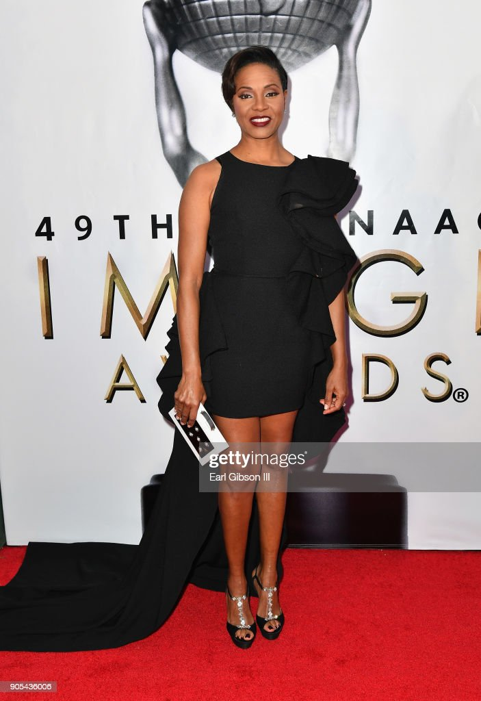 MC Lyte at the 49th NAACP Image Awards on January 15, 2018 in Pasadena, California.