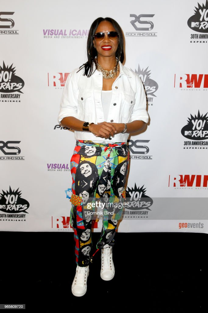 MC Lyte attends YO! MTV Raps 30th Anniversary Live Event at Barclays Center on June 1, 2018 in New York City.