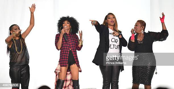 Lyte Brandy Qiueen Latifah and YoYo perform at the BET Hip Hop awards at Boisfeuillet Jones Atlanta Civic Center on September 20 2014 in Atlanta...