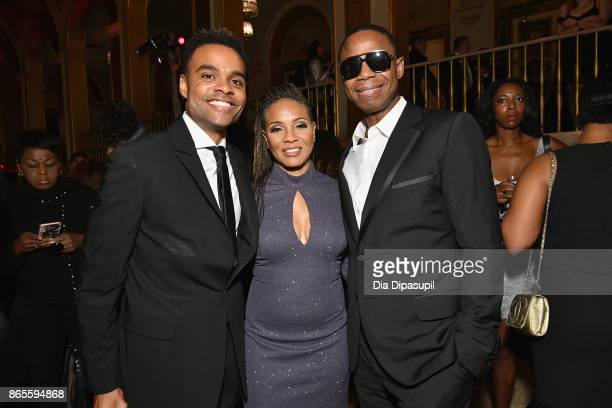 Lyte Dougie Fresh and guest attend HSA Masquerade Ball on October 23 2017 at The Plaza Hotel in New York City