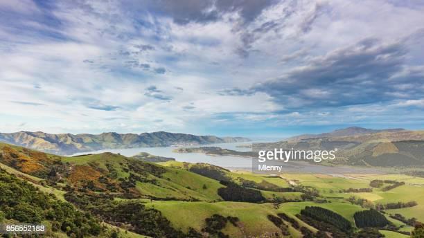 Lyttelton Panorama View Christchurch New Zealand