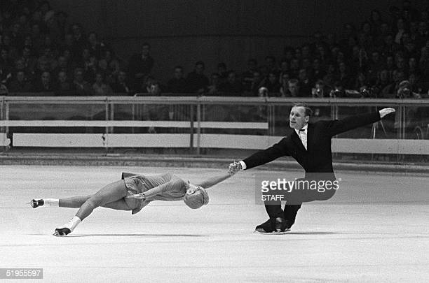 Lyudmila Belousova and her partner Oleg Protopopov from the Soviet Union execute their program during the figure skating pairs competition 14...