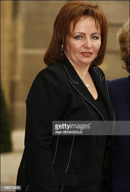 Lyudmila Putina wife of the Russian president in Paris France on January 17 2007