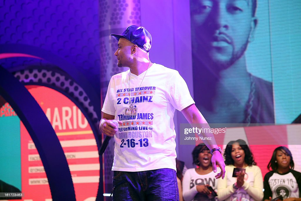 DJ Lyve visits BET's '106 & Park' at BET Studios on February 14, 2013 in New York City.