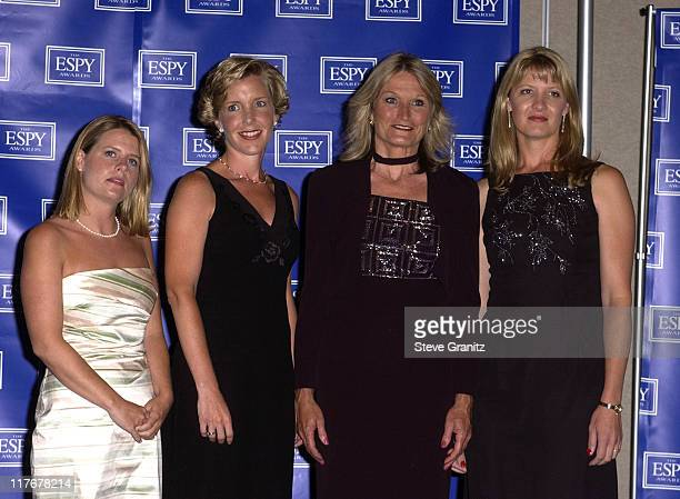 Lyz Glick Lisa Beamer Alice Hoglan and Deena Burnett who accepted ESPY's Arthur Ashe Courage Award on behalf of Jeremy Glick Todd Beamer Mark Bingham...