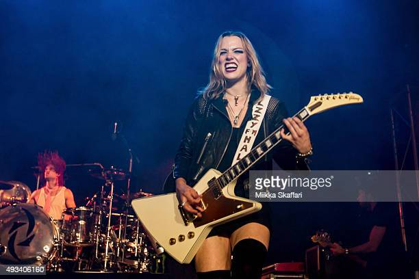 Lzzy Hale of Halestorm performs at The Regency Ballroom on October 19 2015 in San Francisco California