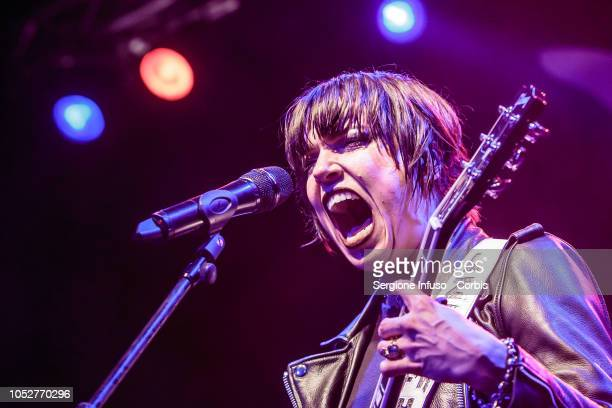 Lzzy Hale of Halestorm performs on stage at Alcatraz on October 22 2018 in Milan Italy