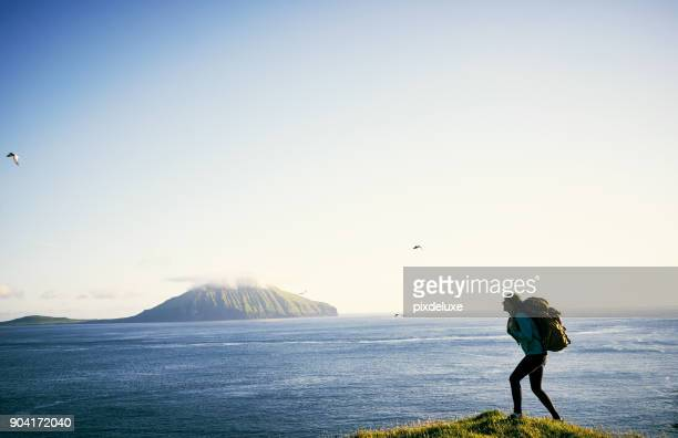 i'm a nature type of woman - wilderness stock photos and pictures