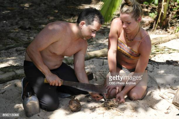 'I'm a Wild Banshee' Mike Zahalsky and Jessica Johnston on the second episode of SURVIVOR 35 themed Heroes vs Healers vs Hustlers airing Wednesday...