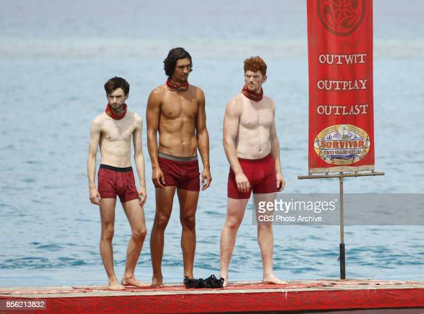 'I'm a Wild Banshee' Ryan Ulrich Devon Pinto and Patrick Bolton on the second episode of SURVIVOR 35 themed Heroes vs Healers vs Hustlers airing...