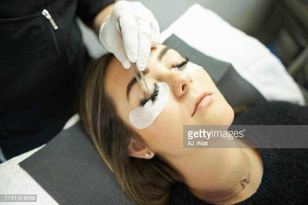 i'm achieving those perfect lash goals - false eyelash stock pictures, royalty-free photos & images