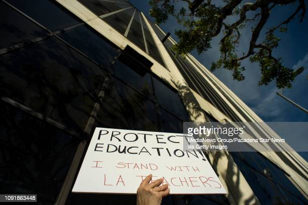'I'm advocating for my children and I believe in what the teachers are asking for will benefit my children so I support my teachers' says Los Angeles...