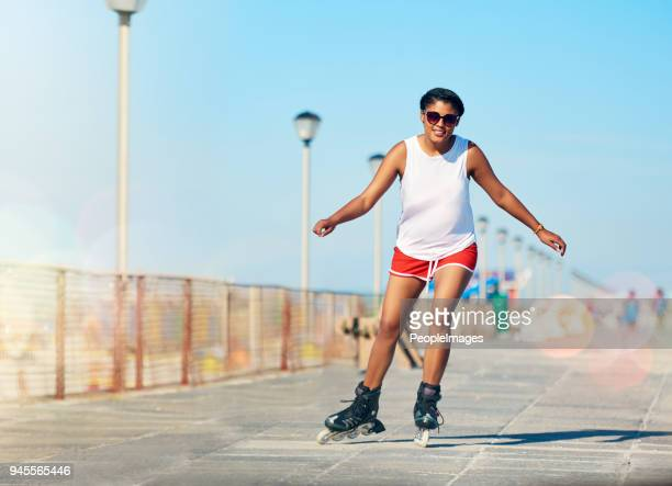 i'm all about worrying less and rollerblading more - roller skating stock pictures, royalty-free photos & images