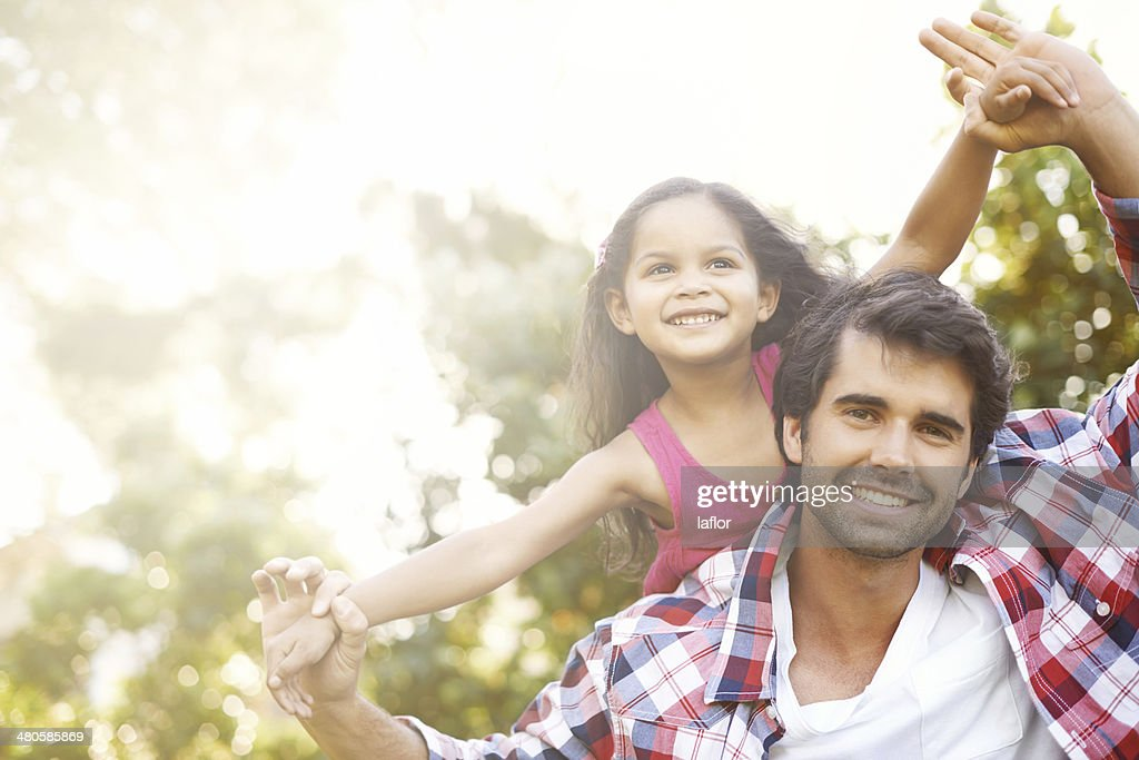 I'm always here to lift her up! : Stock Photo