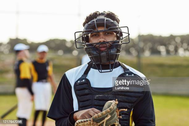 i'm always up for the challenge - baseball catcher stock pictures, royalty-free photos & images