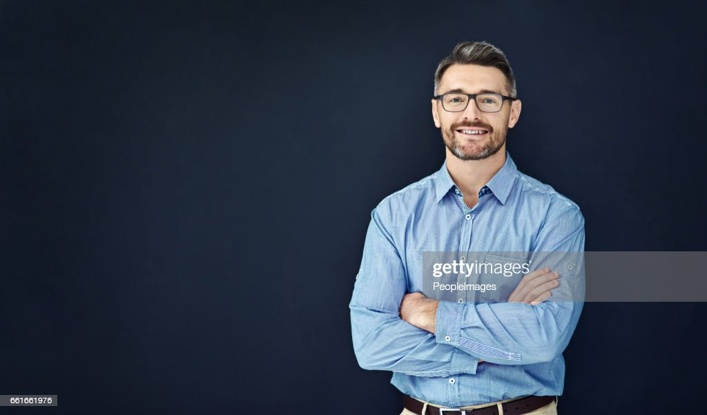 I'm confident in the way I approach business : Stock Photo