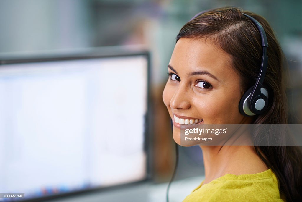 I'm connected and listening : Stock Photo