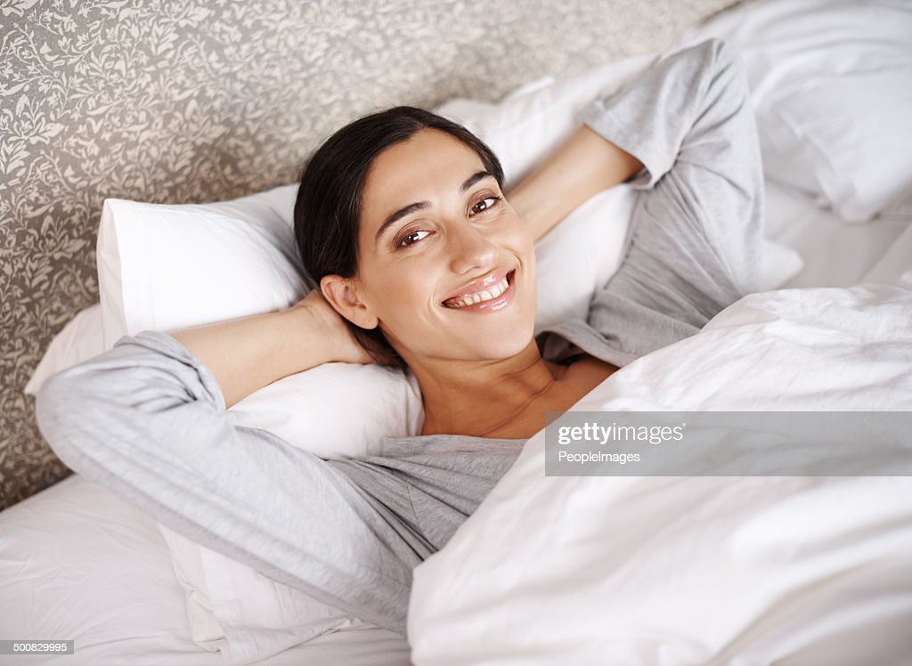 I'm definitely not getting out of bed this Saturday : Stock Photo