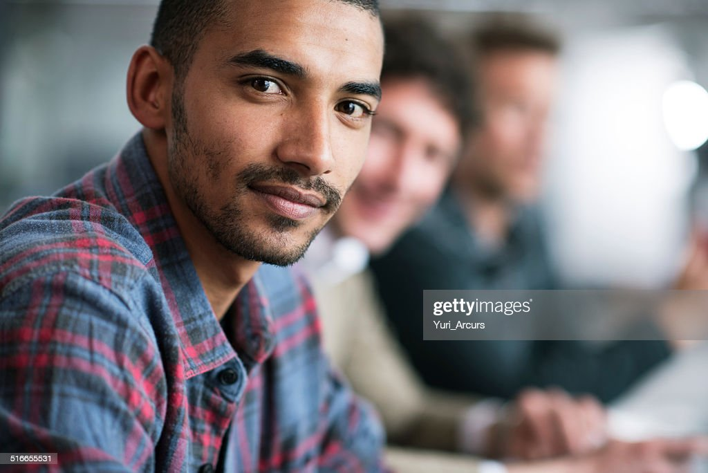 I'm focused on achieving my best : Stock Photo
