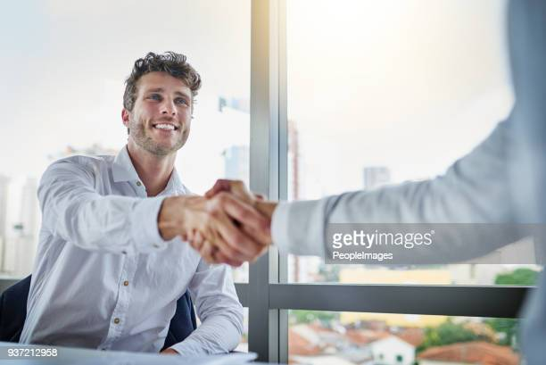 i'm glad we could meet to discuss in person - welcoming stock photos and pictures