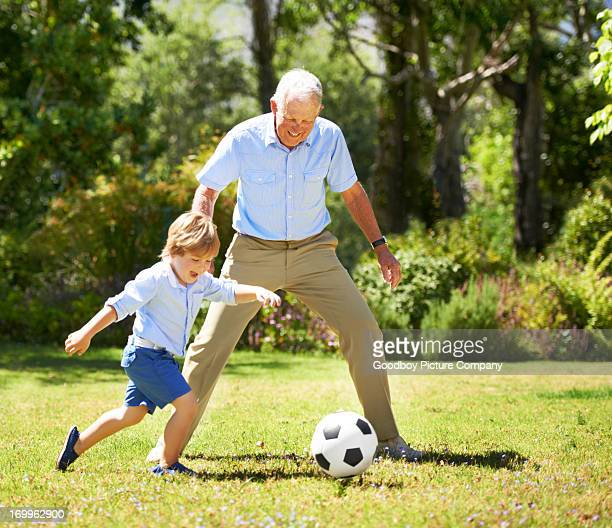I'm going for goal grandpa!