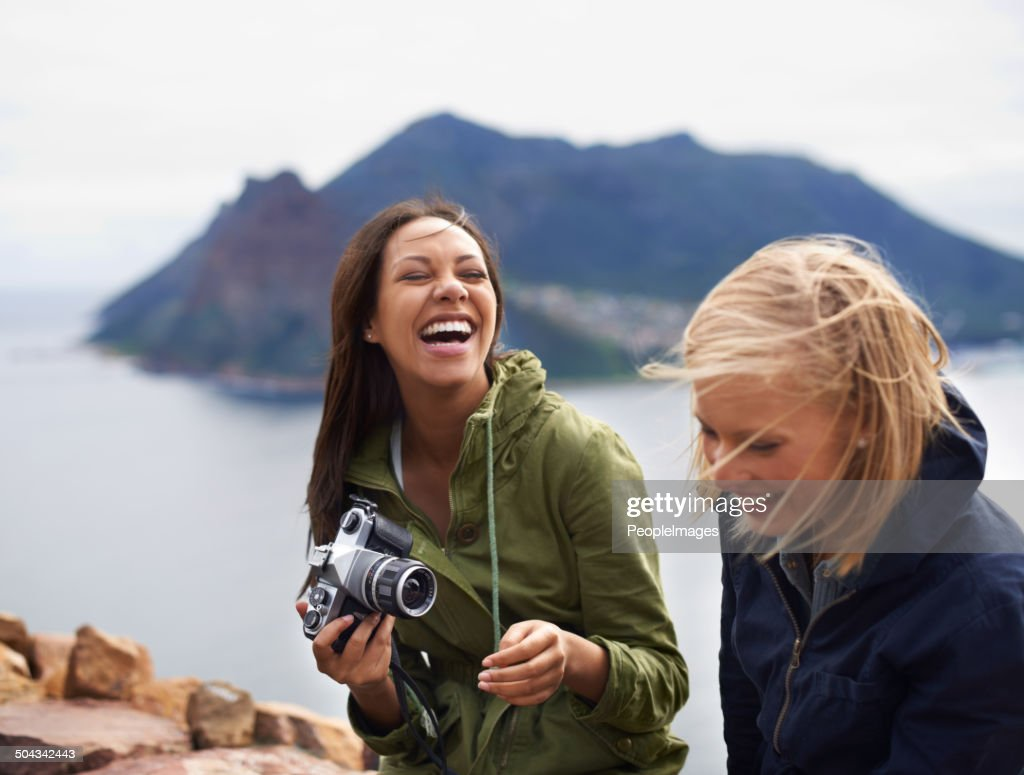 I'm going to fill my camera with memories : Stock Photo