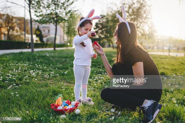 i'm going to win! - easter egg hunt stock pictures, royalty-free photos & images