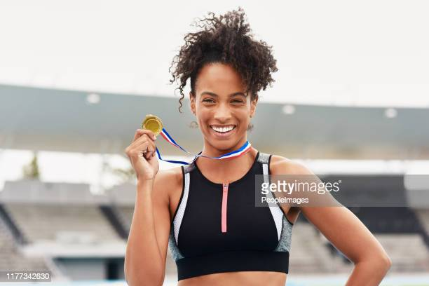 i'm golden! - medalist stock pictures, royalty-free photos & images