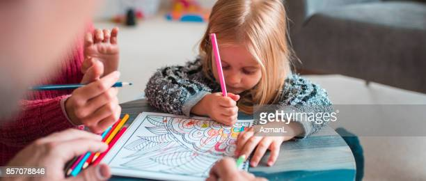 i'm gonna try to colour all by my self! - colouring stock photos and pictures