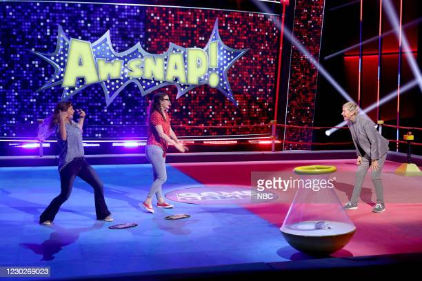 "M King of the Twirl"" Episode 407 -- Pictured: Ady Crosby, Aschli Kurzhals, Ellen DeGeneres --"