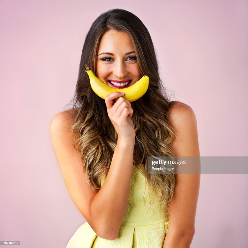 I'm like a monkey with a banana... : Stock Photo