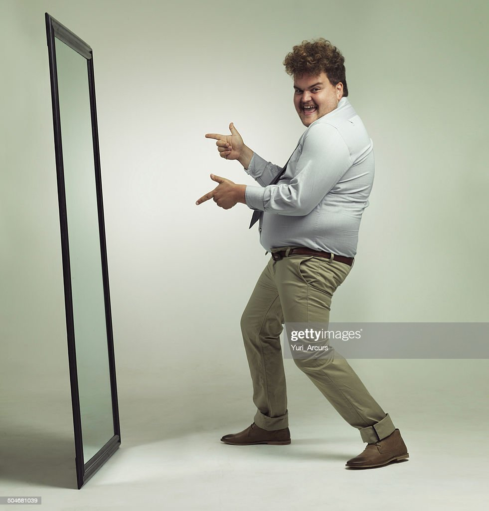 I'm looking great! : Stock Photo