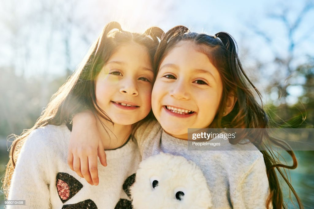 I'm lucky my sister is my best friend : Stock Photo