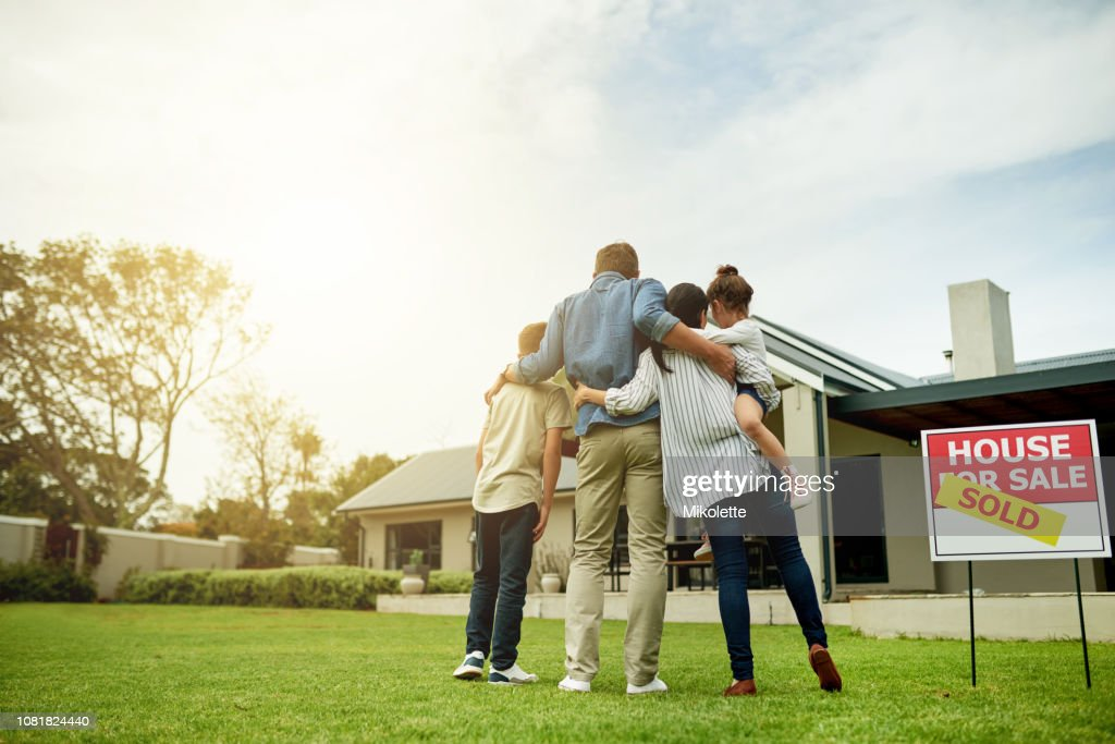 I'm moving my family into our dream home : Stock Photo