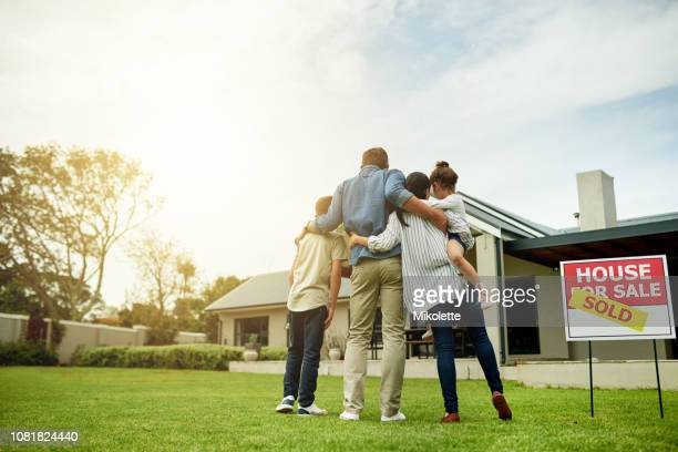 i'm moving my family into our dream home - mortgage stock pictures, royalty-free photos & images