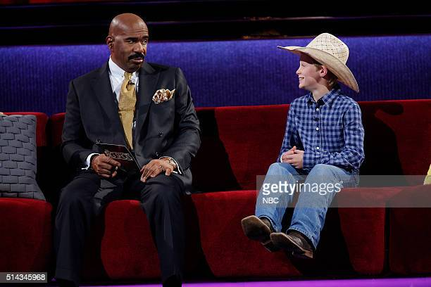 "M Not A Princess"" Episode 105 -- Pictured: Steve Harvey, Cash Owens --"